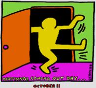 National Coming Out Day logo designed by Keith Haring